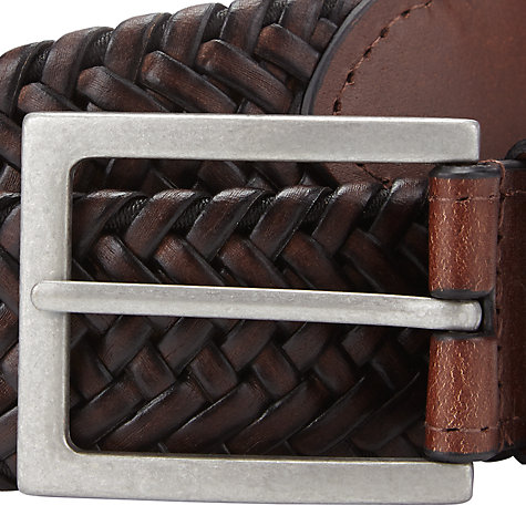 Buy John Lewis Elastic Plait Leather Belt Online at johnlewis.com
