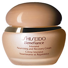 Buy Shiseido Benefiance Intensive Nourishing & Recovery Cream, 50ml Online at johnlewis.com