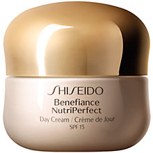 Buy Shiseido Benefiance NutriPerfect Day Cream SPF 15, 50ml Online at johnlewis.com