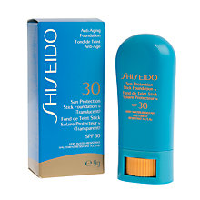 Buy Shiseido Sun Protection Stick Foundation SPF 30 N Online at johnlewis.com