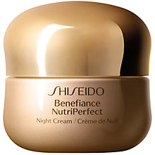 Buy Shiseido Benefiance NutriPerfect Night Cream, 50ml Online at johnlewis.com