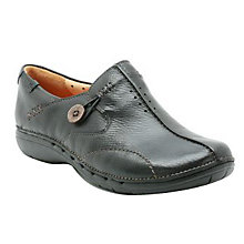 Buy Clarks Un Loop Casual Slip-On Shoes, Black Online at johnlewis.com