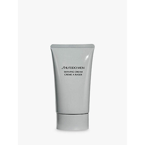 Buy Shiseido Men Shaving Cream, 100ml Online at johnlewis.com