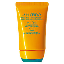 Buy Shiseido Protective Tanning Cream N SPF 10, 50ml Online at johnlewis.com