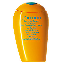 Buy Shiseido Protective Tanning Emulsion N SPF 10, 150ml Online at johnlewis.com