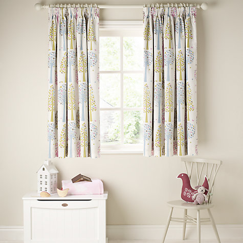 Buy little home at John Lewis Magic Trees Blackout Lined Pencil Pleat Curtains, Multi Online at johnlewis.com