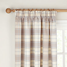 Buy John Lewis Marlow Check Lined Pencil Pleat Curtains, Cornflower Online at johnlewis.com
