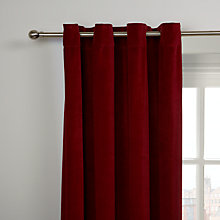 Buy John Lewis Velvet Lined Eyelet Single Panel Door Curtain Online at johnlewis.com