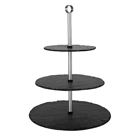 Buy Just Slate 3 Tier Cake Stand Online at johnlewis.com