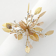 Buy John Lewis Leaf Spray Napkin Ring, Gold Online at johnlewis.com
