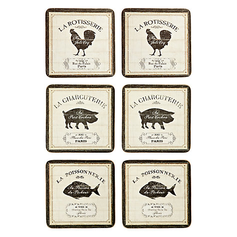 Buy John Lewis French Market Coasters, Set of 6 Online at johnlewis.com