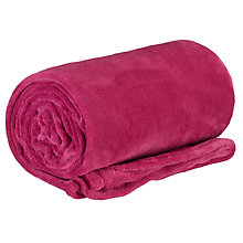 Buy John Lewis Fleece Throw Online at johnlewis.com