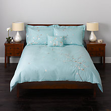Buy John Lewis Oriental Flower Bedding, Duck Egg Online at johnlewis.com