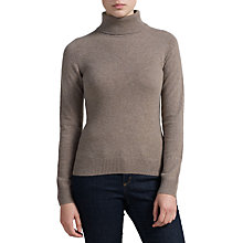 Buy John Lewis Cashmere Roll Neck Jumper, Toast Online at johnlewis.com