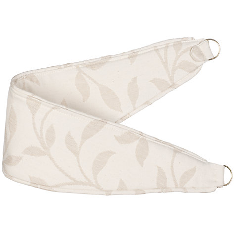 Buy John Lewis Leaf Trail Tie Backs, Stone Online at johnlewis.com