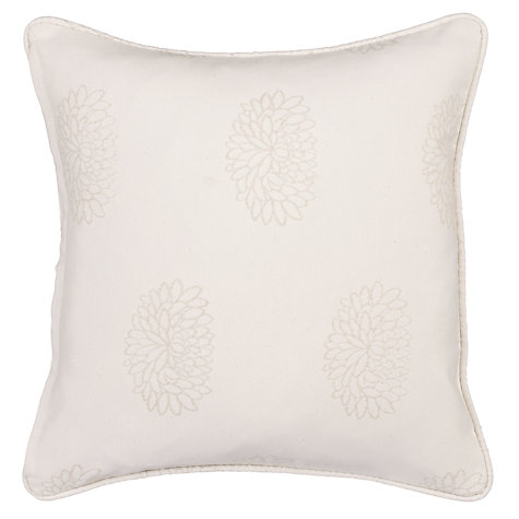 Buy John Lewis Water Lily Cushion Cover, Natural Online at johnlewis.com