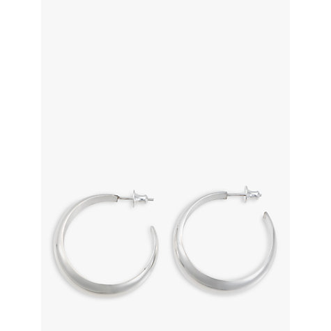 Buy Andea Large Hoop Silver Earrings Online at johnlewis.com