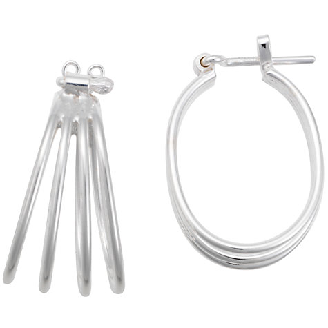 Buy Andea Silver 4 Hoop Earrings Online at johnlewis.com