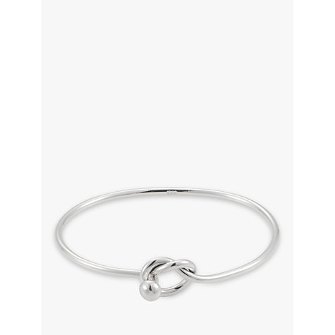 Buy Andea Lovers Knot Silver Bangle Online at johnlewis.com