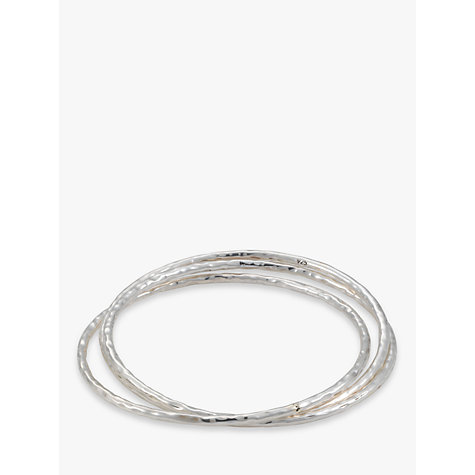 Buy Andea Hammered Silver 3 Set Bangle Online at johnlewis.com