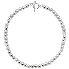 Buy Andea Silver Round Bead Necklace Online at johnlewis.com