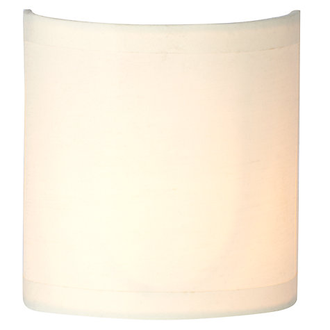 Buy John Lewis The Basics Lulu Half Drum Shade, Cream Online at johnlewis.com