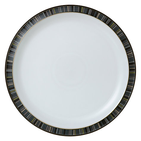 Buy Denby Jet Stripes Plates, Black Online at johnlewis.com
