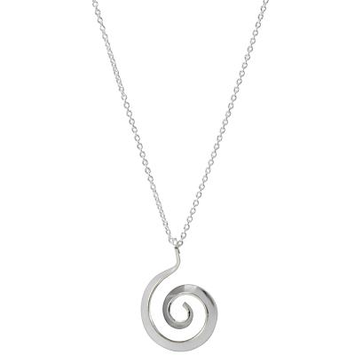 Andea Swirl Pendant Necklace, Silver