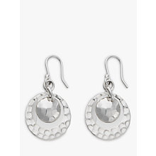 Buy Andea Round Silver Disc Drop Earrings Online at johnlewis.com