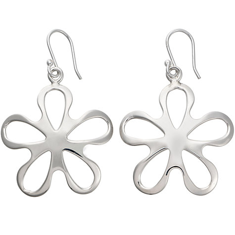 Buy Andea Silver Cut Out Flower Drop Earrings Online at johnlewis.com