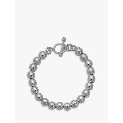 Buy Andea Silver Round Bead Bracelet Online at johnlewis.com