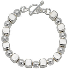 Buy Andea Silver Cube and Ball Bracelet Online at johnlewis.com