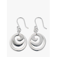 Buy Andea Silver Spiral Circle Drop Earrings Online at johnlewis.com