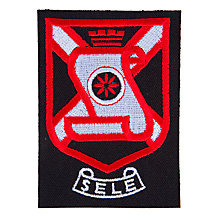 Buy The Sele School Blazer Badge, Black/Red Online at johnlewis.com