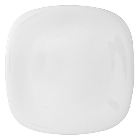 Buy Denby White Bone China Square Plate, White Online at johnlewis.com