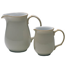 Buy Denby Linen Small Jug, Natural Online at johnlewis.com