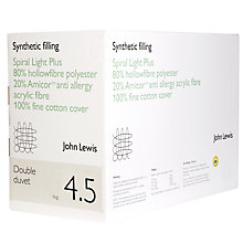 Buy John Lewis Spiral Light Polyester Hollowfibre Duvet, 4.5 Tog Online at johnlewis.com
