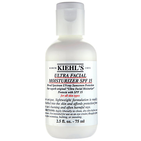 Buy Kiehl's Ultra Facial Moisturizer SPF 15, 75ml Online at johnlewis.com