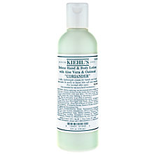 Buy Kiehl's Coriander Deluxe Hand & Body Lotion, 250ml Online at johnlewis.com