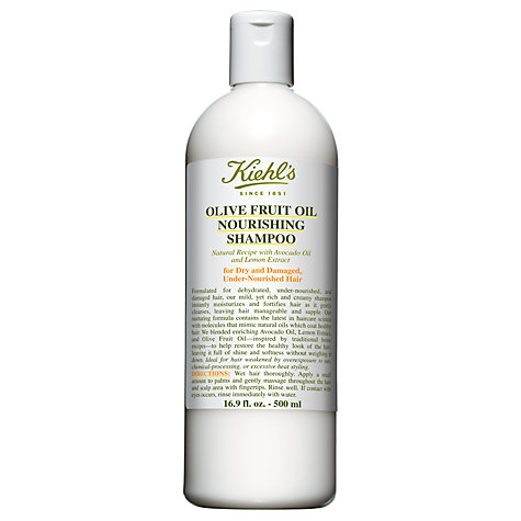 Buy Kiehl's Olive Fruit Oil Nourishing Shampoo, 500ml Online at johnlewis.com