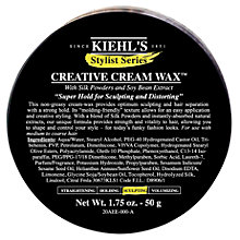 Buy Kiehl's Creative Cream Wax, 50ml Online at johnlewis.com
