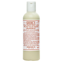 Buy Kiehl's Grapefruit Deluxe Hand & Body Lotion, 250ml Online at johnlewis.com