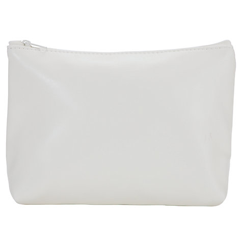 Buy John Lewis White Small Zipped Cosmetic Purse Online at johnlewis.com