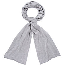 Buy John Lewis Women Plain Wrap Scarf, Grey marl Online at johnlewis.com