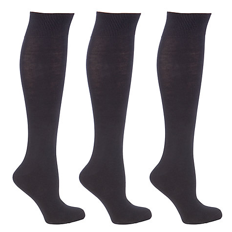 Buy John Lewis Cotton Rich Knee High Socks, Pack of 3 Online at johnlewis.com