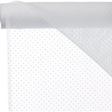 Buy John Lewis Mini Dot Voile Fabric, White Online at johnlewis.com