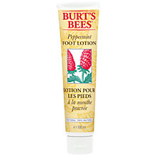Buy Burt's Bees Peppermint Foot Lotion, 100ml Online at johnlewis.com