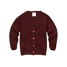 Buy Girls' School V-Neck Cardigan, Maroon Online at johnlewis.com