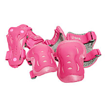 Buy Stateside Skates Junior Triple Pad Set, Pink Online at johnlewis.com