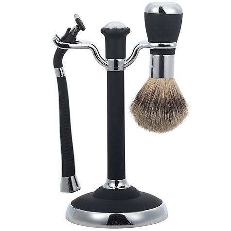 buy john lewis men 39 s shaving set black john lewis. Black Bedroom Furniture Sets. Home Design Ideas